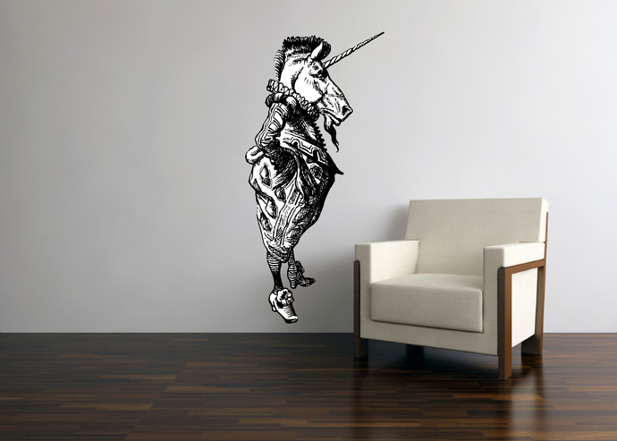 The Unicorn - Alice in Wonderland - Vinyl Wall Decal - Various Sizes Available