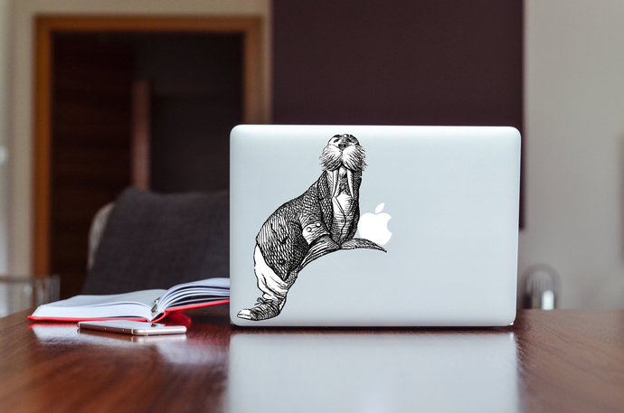 The Walrus 2 - Alice in Wonderland - Vinyl Wall Decal - Various Sizes Available