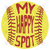 Softball, My Happy Spot Fitted Scoop Digital Cut Files Svg, Dxf, Eps, Png,