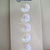 """7/16"""" Clear Glass Buttons with Gorgeous Iridescent Luster 1309-5 Clothing Button"""