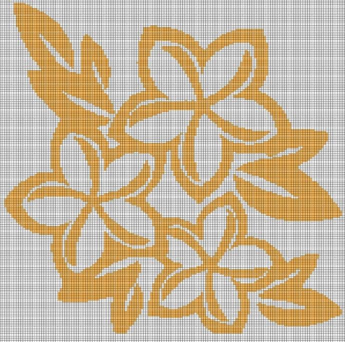 YELLOW FLOWER CROCHET AFGHAN PATTERN GRAPH