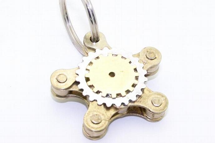 SteamPunk Star Chain Keychain by TheSteamPunkTrunk