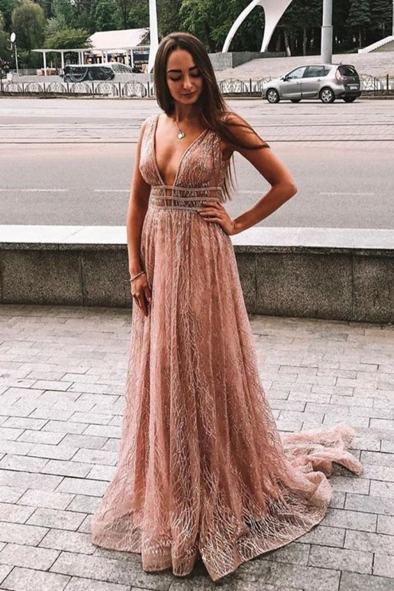 Rose Gold Long Prom Dresses,Rose Gold Long Prom Dresses,Long Prom Dresses 2020,