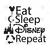 Eat Sleep Disney Repeat Digital Cut Files Svg, Dxf, Eps, Png, Cricut Vector,