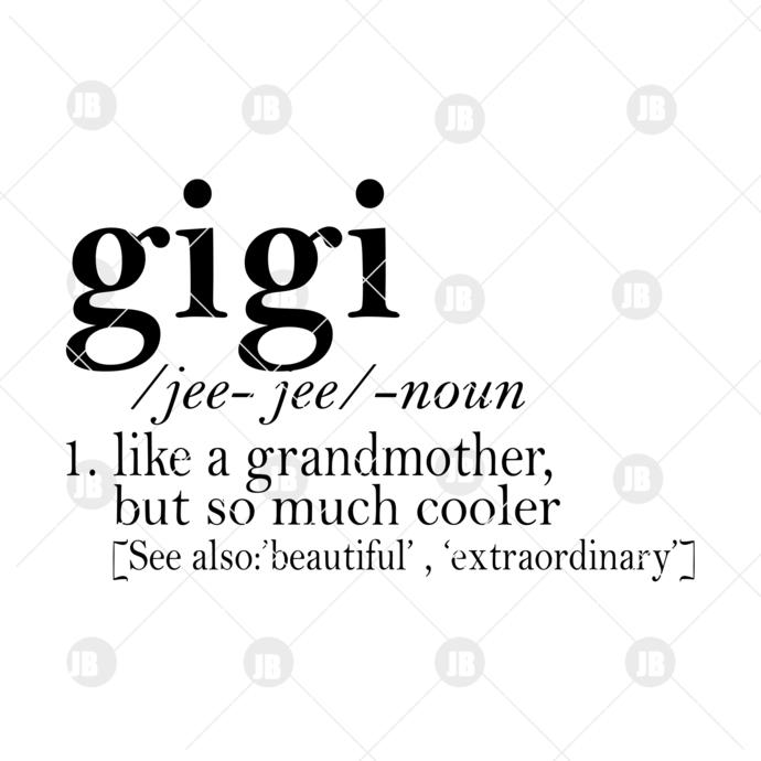 Gigi Digital Cut Files Svg, Dxf, Eps, Png, Cricut Vector, Digital Cut Files