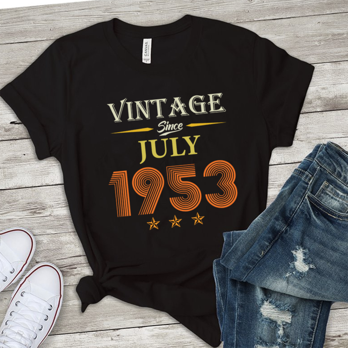 Vintage since july 1953,retro vintage svg, born in 1953, 66 years old svg,born