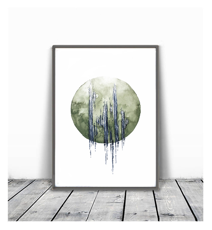 Instant download, watercolor print, Printable Art , Wall Hanging ,watercolor