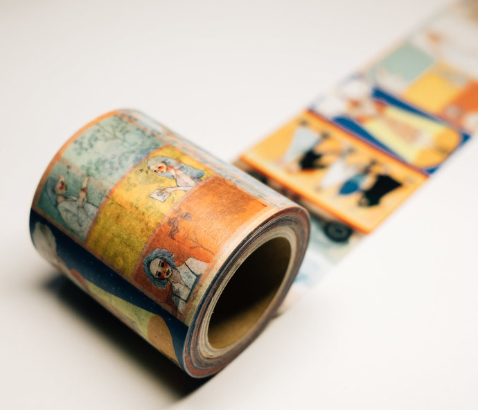 La Dolce Vita washi tape - Waiting for Your Letter - 5 cm wide masking tape