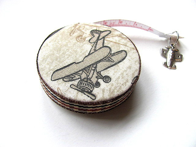 Tape Measure Retro Airplanes Retractable Measuring Tape
