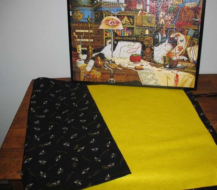 Jigsaw Puzzle Mat, felt, handmade