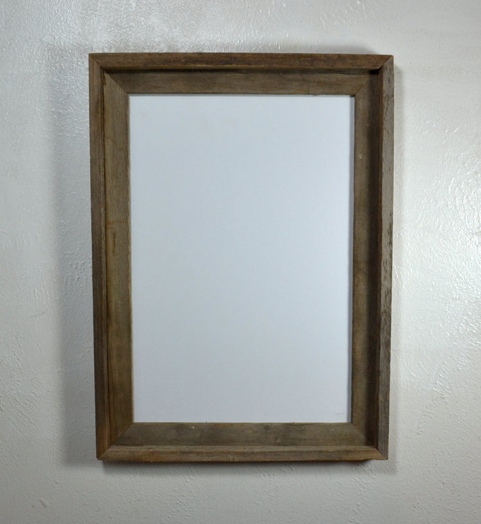 """13"""" x 19"""" rustic recycled  wood poster frame"""