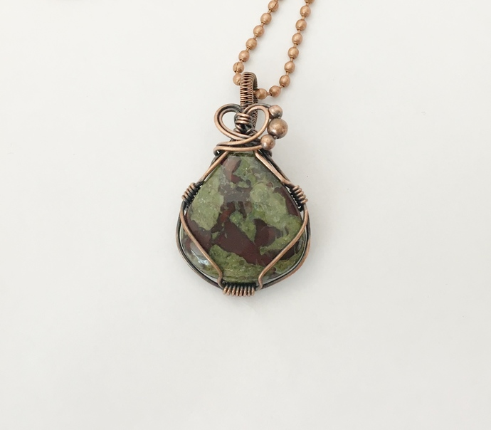 Dragons Blood Jasper Copper Pendant