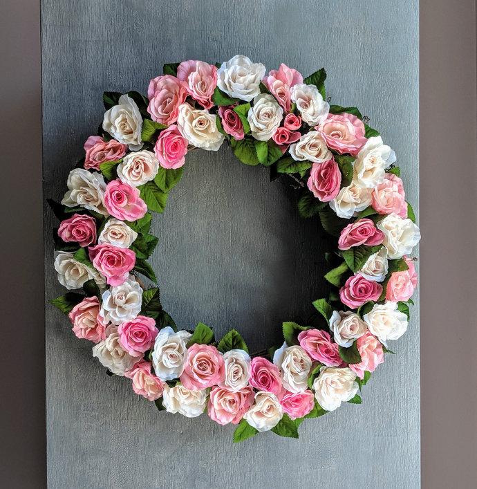 Summer Rose Wreath