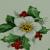 White Poinsetta Ceramic Waterslide Decals D9-65