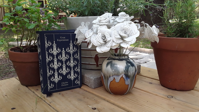 Charles Dickens Great Expectations Book Flowers, Paper Flowers, 1st Anniversary