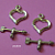 20 sets Tibetan Silver Finish Heart & Arrow Toggle
