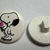 Snoopy Eating Ice Cream Plastic Sewing Button, Peanuts Gang, Schulz