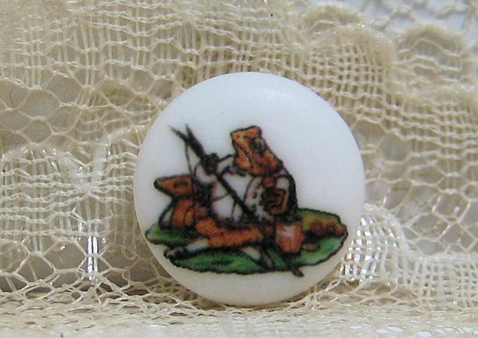 Beatrix Potter Mr. Jeremy Fisher Clothing Button, Frog