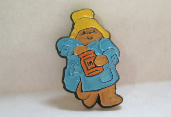 Paddington Bear Hand in the Honey Jar Sewing Button
