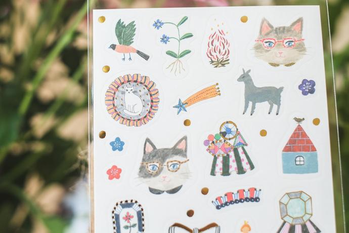 Aiko Fukawa sticker seal sheet - Party!