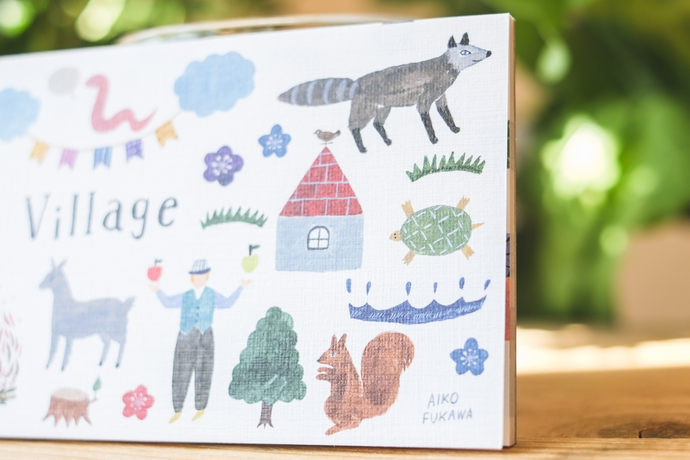 Aiko Fukawa memo pad - Village - 20 note sheets with 4 different designs