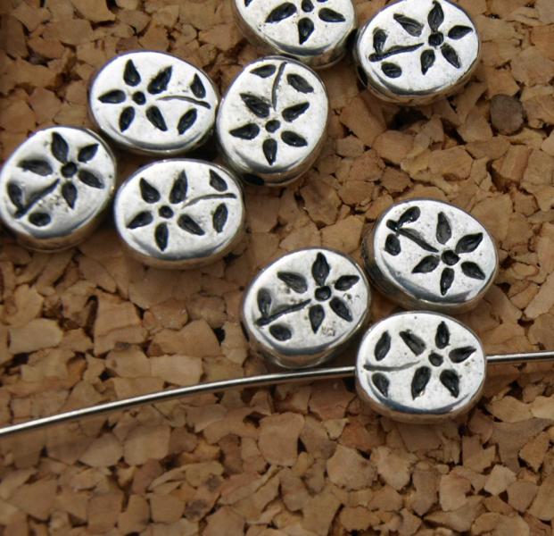 Daisy Oval Beads