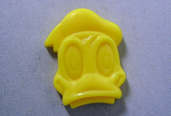 Donald Duck Yellow Plastic Clothing Button Collectible Disney