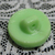 Small Older Mickey Mouse Light Green Glass Button Disney Collectible