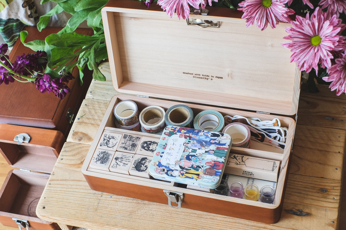 Classiky Desk Tool Box Perfect For Arranging Your Planning And Journaling Supplies