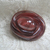 """Vintage OVAL BROWN Moonglow Button with Crystal luster, 11/16"""" long 1950's"""