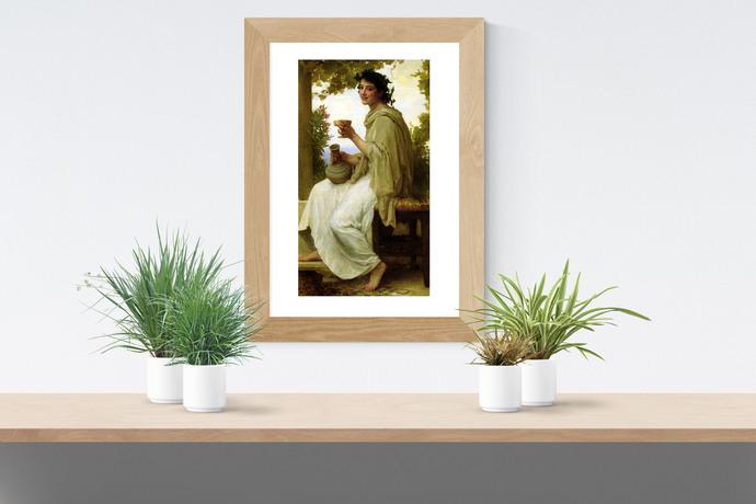 "Bacchante - Bouguereau - Art Print - 13"" x 19"" - Custom Sizes Available"