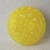 """11/16"""" Yellow Glass Moonglow Button Vintage"""