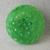 """11/16"""" Green Glass Moonglow Button Vintage"""