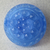 """11/16"""" Blue Glass Moonglow Button Vintage"""