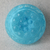 """11/16"""" Turquoise Glass Moonglow Button Vintage"""