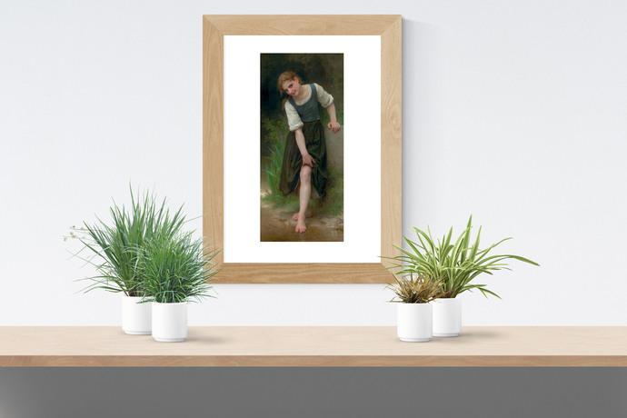 "The Ford - Bouguereau - Art Print - 13"" x 19"" - Custom Sizes Available"
