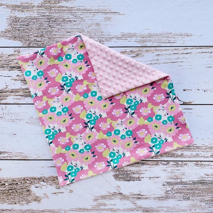 Pink Modern Floral Lovey Blanket