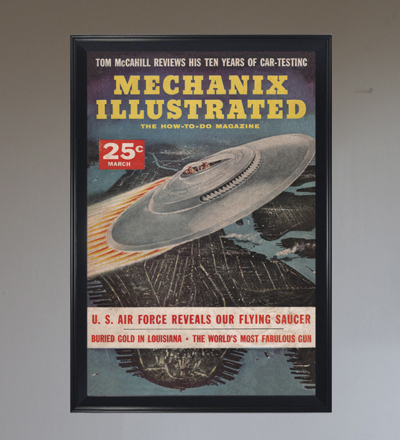 Mechanix Illustrated UFO - Art Print - Various & Custom Sizes Available