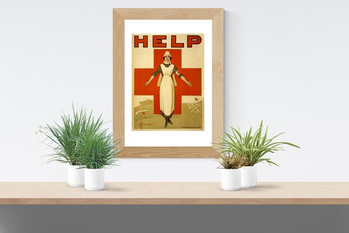 "Red Cross Nurse - Art Print - 13"" x 19"" - Custom Sizes Available"
