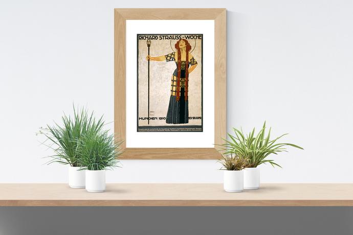 "Richard Strauss-Wochen Festival Poster - Art Print - 13"" x 19"" - Custom Sizes"