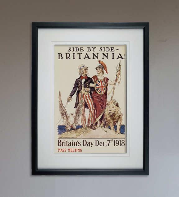 """Side by Side Britannia - Art Print - 13"""" x 19"""" - Custom Sizes Available"""