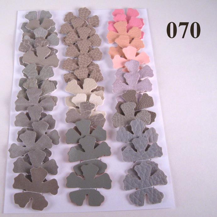 Gray and Pink Vinyl Die Cut Flowers