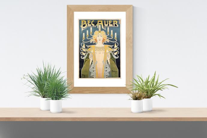 "Vintage Bec Auer Poster - Art Print - 13"" x 19"" - Custom Sizes Available"