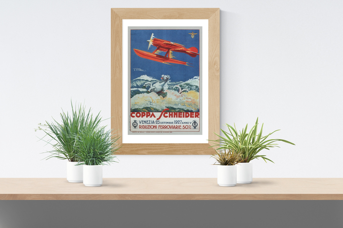 "Vintage Coppa Schneider Poster - Art Print - 13"" x 19"" - Custom Sizes Available"