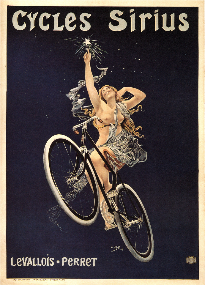 """Vintage Cycles Sirius Poster - Art Print - 13"""" x 19"""" - Custom Sizes Available"""