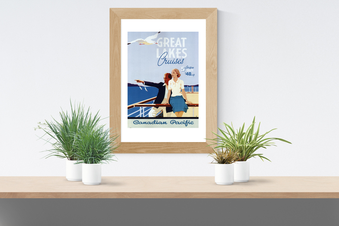 "Vintage Great Lakes Cruises - Art Print - 13"" x 19"" - Custom Sizes Available"