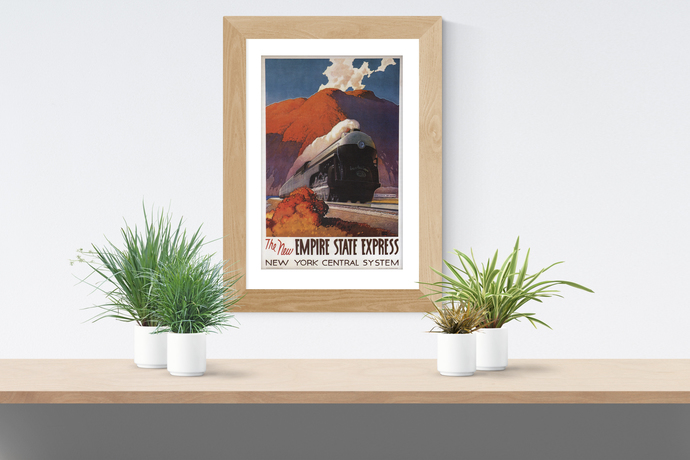 "Vintage Train Travel Poster - Art Print - 13"" x 19"" - Custom Sizes Available"