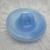 Light Blue Flower Center Glass Moonglow Vintage Button