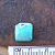 Little Blue Square Cabochon of Kingman Blue Turquo