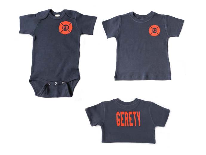 Firefighter Baby or Toddler shirt, Future Firefighter, Baby Firefighter, Just
